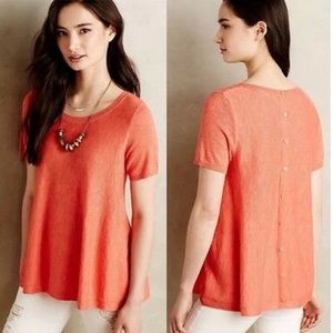 Anthropologie Moth button back swing top B0190